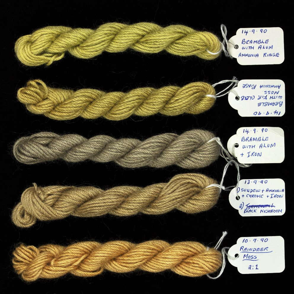 Natural dyes, digitised by Jade Starmore
